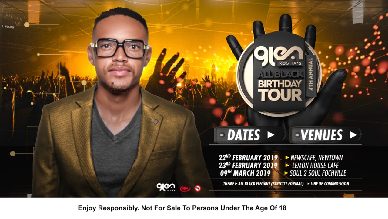 Glen Kosha's 4th Annual #AllBlackBirthdayTour