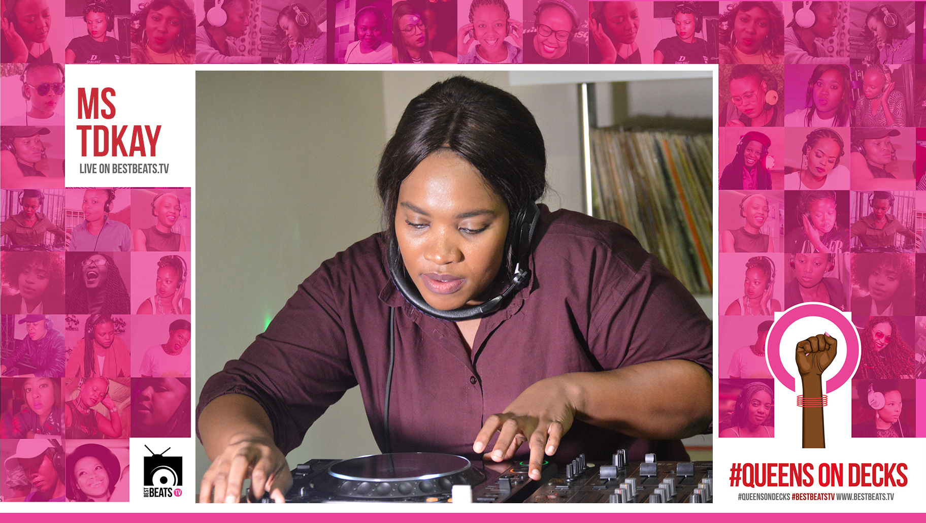 Ms TDkay with your #QueensOnDecks #LunchTymMix